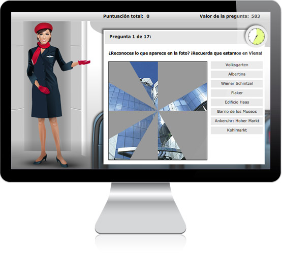 Air Berlin E-Learning-Tool in Desktopansicht